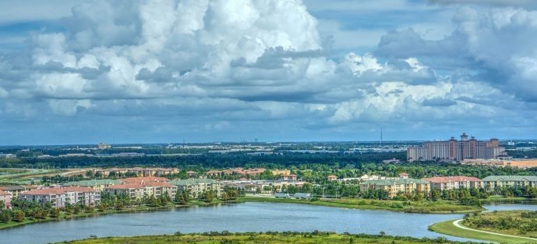 An aerial view of Orlando.