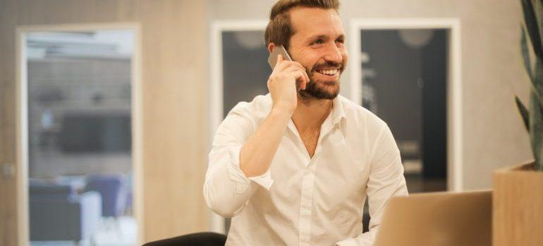 Men calls commercial movers Davie Fl
