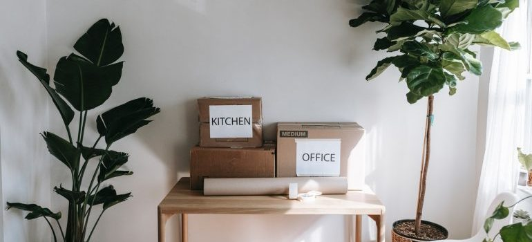 Decluttered items to avoid hidden costs of moving.