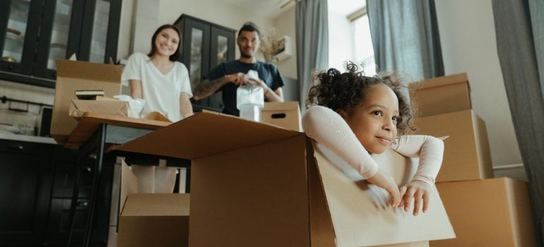 The family is carefree packing because they hired residential movers Miami Gardens Fl