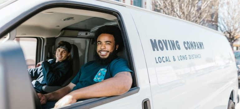movers from moving companies Spring Hill in a van