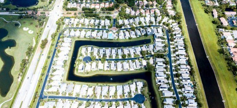 a row of homes in Deerfield beach FL